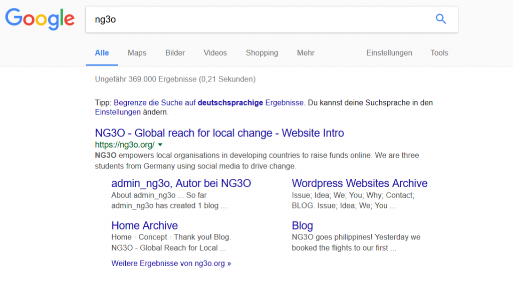 NG3O first on Google